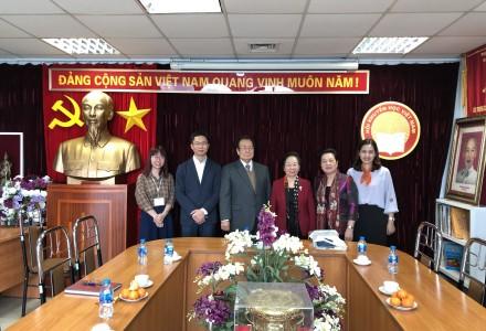 CTCP ISSHIN và Hội khuyến học báo ASAHI làm việc với Đại diện Hội khuyến học Việt Nam