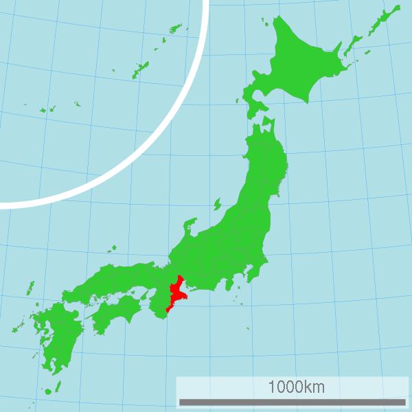 Bản đồ vị trí tỉnh Mie